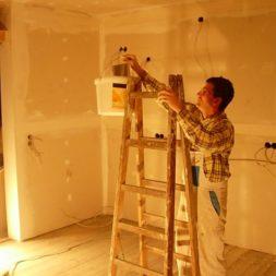 dscn5813 - Gipswände verspachteln und Fachwerk einbinden in der Küche