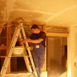 dscn5814 - Gipswände verspachteln und Fachwerk einbinden in der Küche