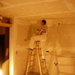dscn5815 - Gipswände verspachteln und Fachwerk einbinden in der Küche
